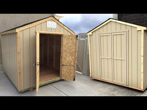 Building a pre-cut wood shed - Side-by-side review - Backyard Discovery vs Handy Home