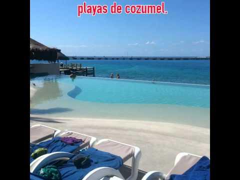 Cortina de playas del carmen y cozumel,mexico.