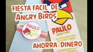 Organiza una fiesta facil y economica de Angry Birds |  Easy and economical party of Angry Birds