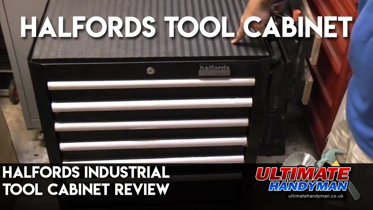 Halfords Industrial Tool Cabinet Review Youtube