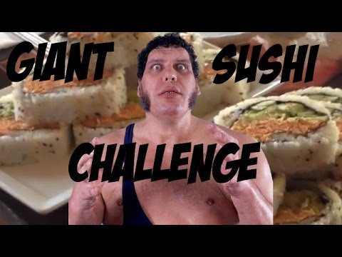 Gianormous Spicy Sushi Roll Eating Challenge