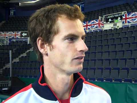 Andy Murray, Colin Fleming & Ross Hutchins at Davis Cup