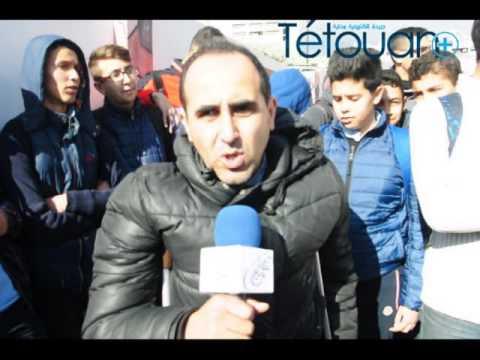 وقفة احتجاجية لاطر واباء وامهات التلاميذ لمؤسسة محمد الفاتح