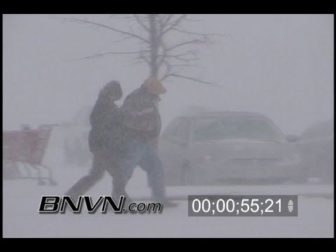 2/11/2003 Blowing Snow Storm Stock Video