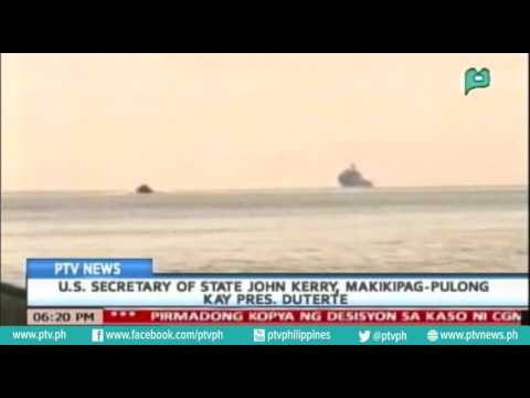[PTVNews 6pm] U.S. Secretary of State John Kerry, makikipag-pulong kay Pres. Duterte [07 20 16]