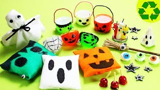How to Make  Halloween Miniature Decorations #1  -  10 Easy DIY Miniature Doll Crafts