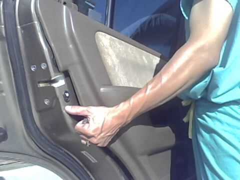 honda crv rear drivers door actuator replacement youtube