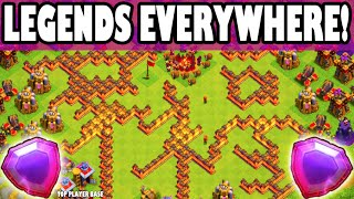 "Clash of Clans - LEGENDS EVERYWHERE! ""TOWN HALL 8 BULLIED BY TOP PLAYER STRATEGY!"" Most Legends?"