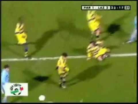 Goal di tacco di Roberto Mancini in Lazio Parma