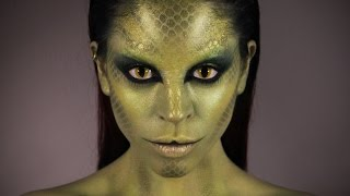 Snake Woman Makeup Tutorial