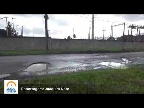 Condutores sofrem com buracos nas proximidades do Conjunto Penal