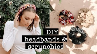 TREND: DIY Headbands & Scrunchies NO-SEW // Leather, Linen & Silk