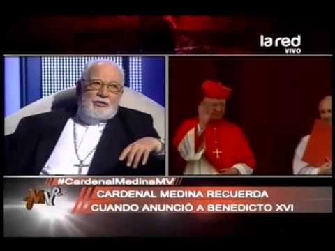 ¿Qué sintió el cardenal Medina cuando anunció al Papa Benedicto XVI?