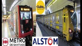 Especial Trenes Alstom - Metro De Santiago y Subte De Buenos Aires