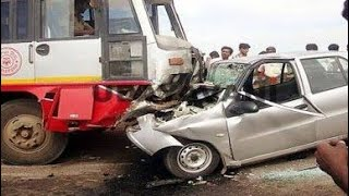 Car Vs Bus | Accident in India| Kerala accident | CCTV Footage