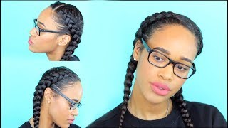 How To: Two Dutch Braids on Natural Hair | Step by Step