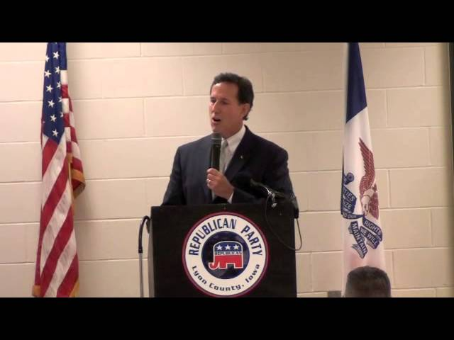 Santorum Tells Conservatives to Fight Back