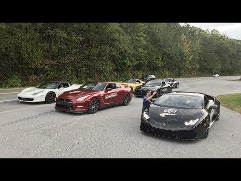Lamborghini Huracan , Ferrari 458 and GTR Accelerations and Flybys