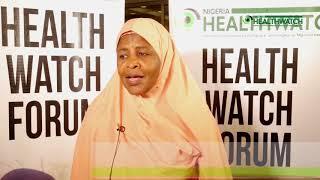 ''The men are our problem'' Sa'Adatu Hashim at Nigeria Health Watch Forum 2018