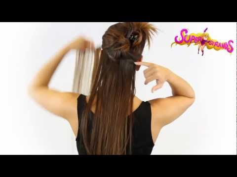 .com 7 Piece Double Weft Hair extensions tutorial How to clip in