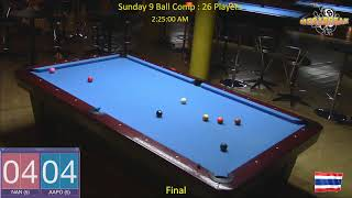 Sunday 9 Ball Handicap Competition - Megabreak Pool Pattaya : 05/05/19