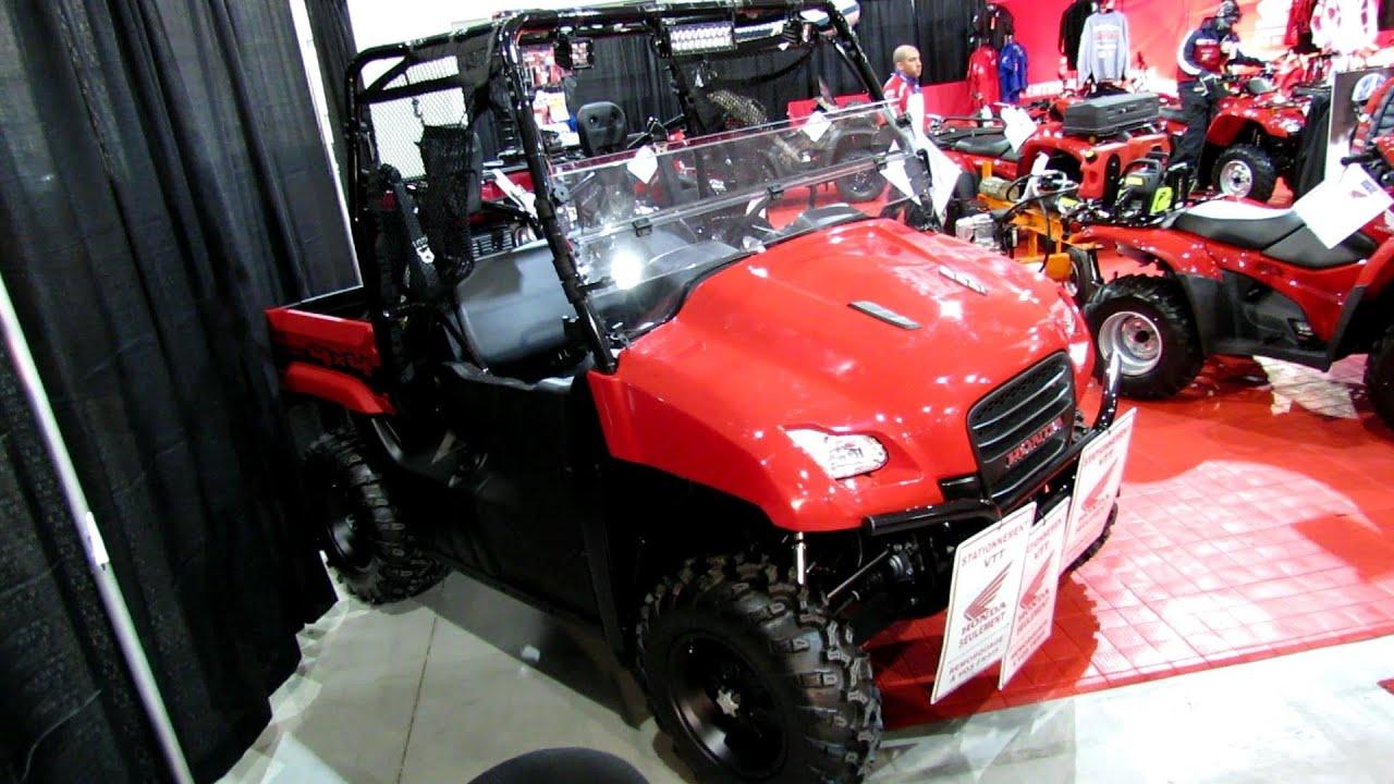 honda big red muvd utility sise  side atv  salon national du quad laval