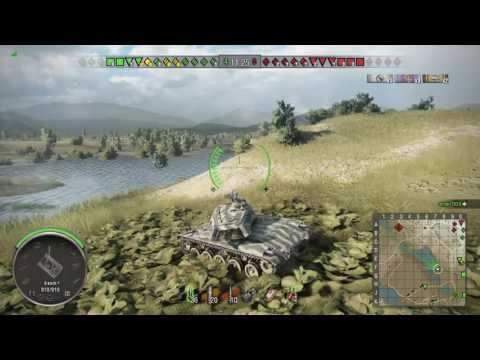 World of Tanks PS4 - M41 Bulldog Master chasing arties