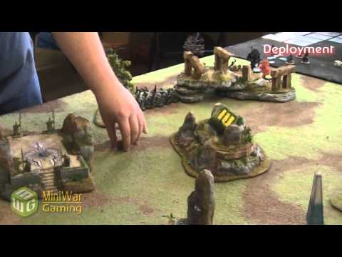 Khador Vs Retribution Warmachine Battle Report - Game 1 - Part 1 3 video
