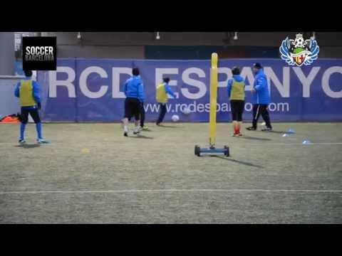 Футбольная школа в Барселоне SWA: Утренняя тренировка