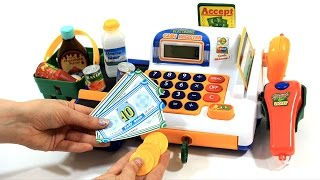 Supermarket Electronic Cash Register Toy with Lights and Sound – Unbox Me
