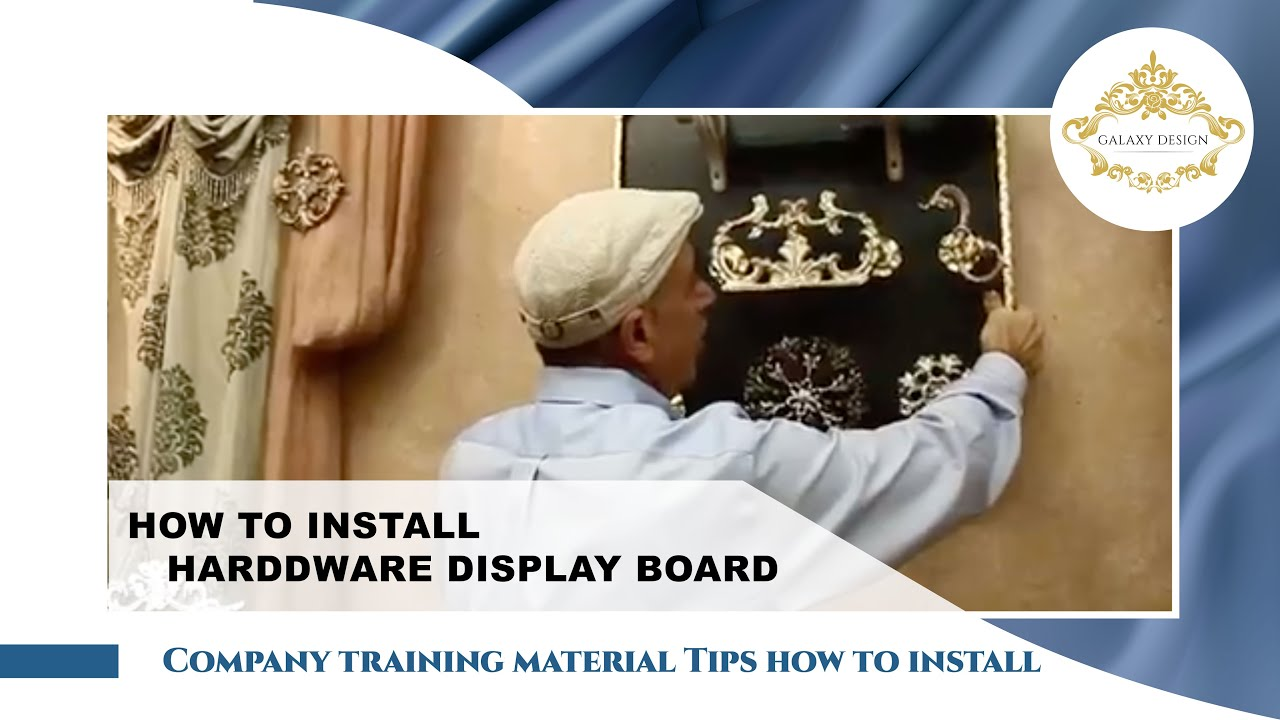 Video 15 How To Install A Crystal Drapery Display Board
