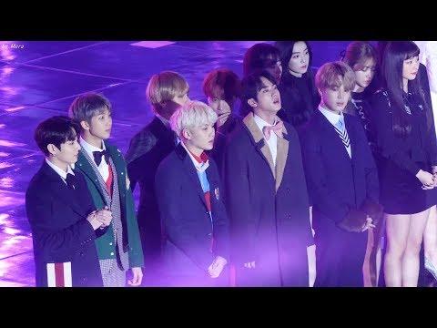 171225 방탄소년단(BTS),레드벨벳(Red Velvet) 전출연진 오프닝 직캠 Fancam (가요대전) by Mera