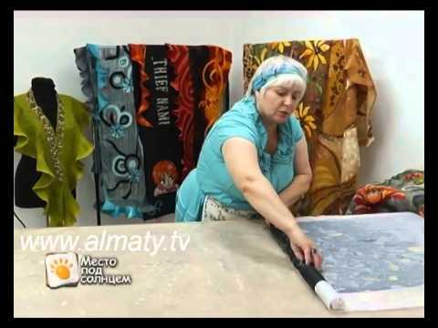 Шелковый шарф из войлока