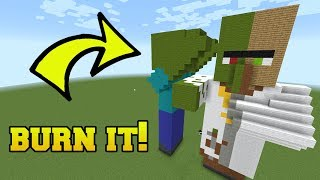IS THAT A ZOMBIE VILLAGER?!? BURN IT!!!  from PopularMMOs