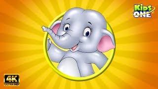 Hathi Aaya | हाथी आया | बालगीत | 4K HINDI Rhymes For Children | KidsOneHindi