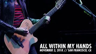 Metallica All Within My Hands Awmh Helping Hands Concert November 3 2018