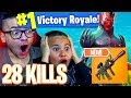*NEW* THERMAL WEAPON COMING TO FORTNITE BATTLE ROYALE! 28 KILLS! NEW SKIN IS WILD! 9 YEAR OLD KID 😱