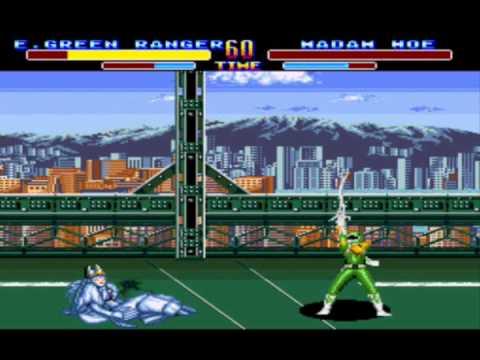 mighty morphin power rangers sega genesis evil green