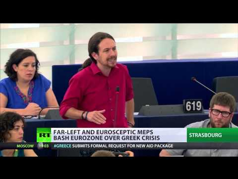 'Leave Euro, retake democracy!' Far-left & eurosceptic MEPs bash eurozone over Greece