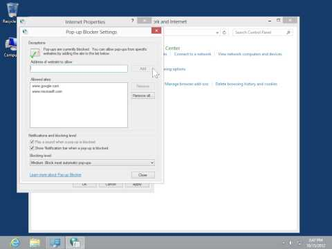 Windows 8   Desktop Version Configure the Pop Up Blocker