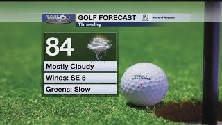 Golf Forecast Thursday, May 24, 2018