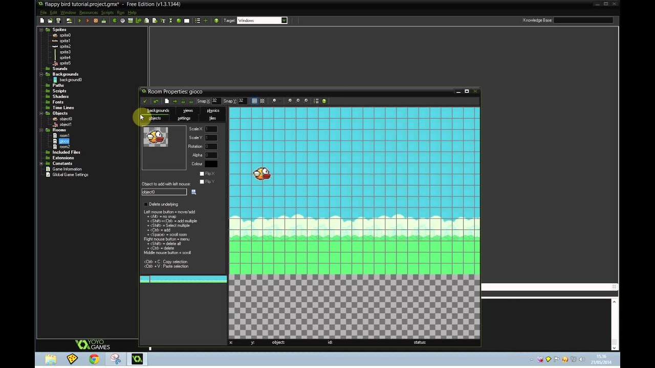 Flappy Bird Game Maker Studio Tutorial