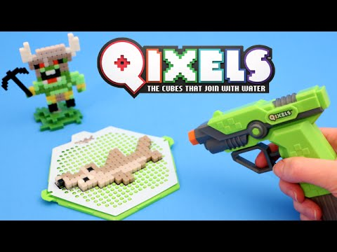 Qixels Fuse Blaster Water Gun Design Set 8 Bit Crafts Toy Review