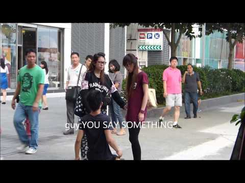 (Eng Subtitles)Guy Kneeled To And Slapped By A Girl In Hong...