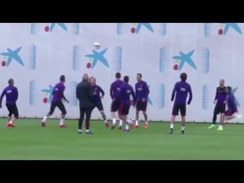 Lionel Messi trains with Barcelona ahead of Celta Vigo clash