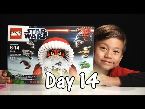 Day 14 LEGO STAR WARS Advent Calendar Review Set 9509 - 2012 -  Stop Motion & FREE CODE