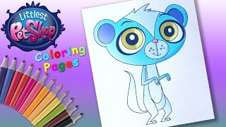 Littlest Pet Shop Coloring Book Page I Colouring with Colored Pencils for Kids