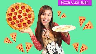 Đời Thường- Ngày Cuối Tuần Của Chị Bí Đỏ / Làm Pizza / Dạy Anh Ếch Tiếng Việt - Kênh Chị Bí Đỏ