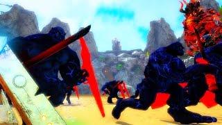 ARK Survival Evolved - NEMESIS INDOMINUS REX VS DRAGON GODS, EPIC BLUE SUPER ORC ( Modded Gameplay )