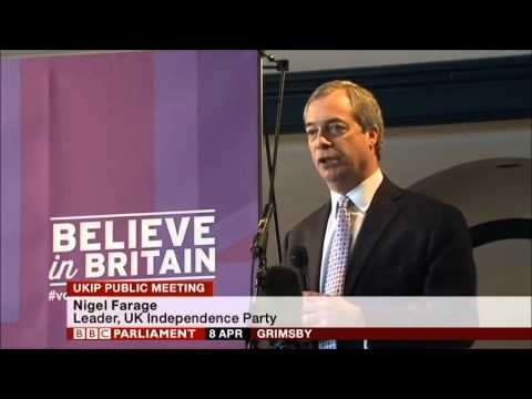 Tony Blair can go to Hell! Nigel Farage speech in Grimsby